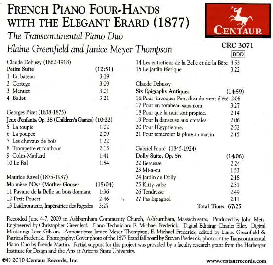 Play List for the Erard CD
