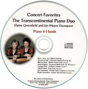 New Transcontinental Piano Duo CD